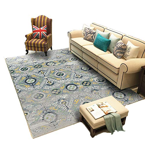 GOYOO Teppich Weich Hell Hindernisblock Modern Wohnzimmer Schlafzimmer Dekoration Rutschfest Geometrie,130x190cm