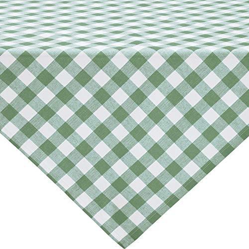 REDBEST Tischdecke, Mitteldecke Landhaus karo Nashville grün Größe 100x100 cm - strapazierstark, langlebig, glattes Gewebe, mit Kuvertsaum (weitere Farben, Größen)