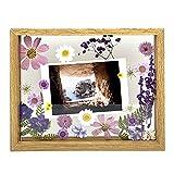 Set of DIY Conjunto de Flores Prensadas secas marco de la foto,Marco de Acrílico madera ,Flores Prensadas Mixtas,Día de la Madre,DIY Calendario de escritorio,planta Espécimen,DIY Decoraciones