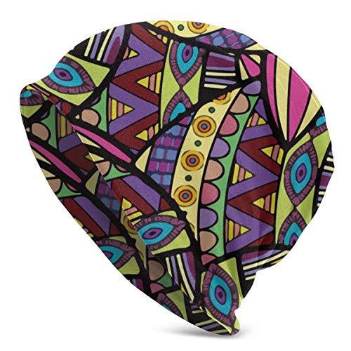 Mamihong Mütze Männer Frauen Bunte Knoten Tilapia Fisch Warmer Schädel Strickmütze Unisex Slouchy Soft Headwear Cuffed Cap