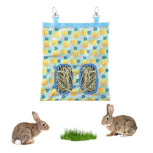 FuninCrea うさぎ 給餌バッグ モルモット給 餌入れ 省スペース ゲージ用 オクスフォード 素材 清潔 衛生的 チンチラ モルモット 小動物用 ウサギ用品 (イェロー)