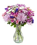 Delivery by Friday, September 17th Arabella Bouquets Purple Extravagance with Vase (Fresh Cut Flowers)