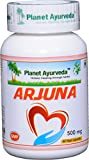 Arjuna Capsules - 60 caps - 500mg - for Heart and Blood Circulation - Planet Ayurveda in USA