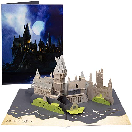 Harry Potter Hogwarts Castle Pop-Up Card - Deluxe Handcrafted Pop Up Card - All Occasions, Blank Inside - 5 x 7