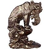 J.Mmiyi Estatua Tigre Decoracion Figuras Salon Modernos, Madre E Hijo Animal Escultura Decorativa por Hogar Oficina Adornos,A