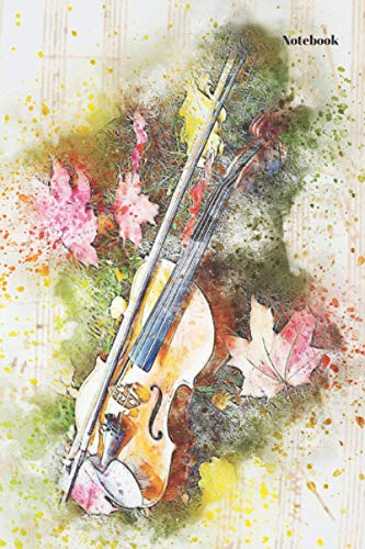 """Notebook: Violin cover notebook journal 150 pages 6/9""""."""