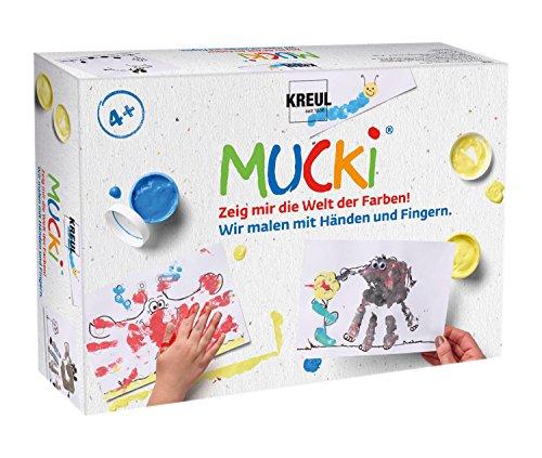 KREUL 29101 - Mucki Vernici Dito Set di 5 dipingiamo con Le Mani e Le Dita
