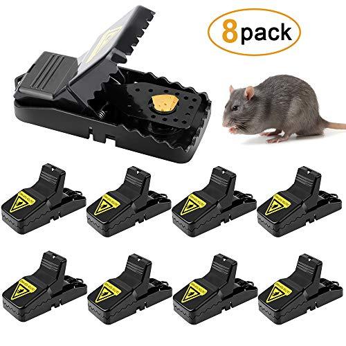 Sporgo Mausefalle, 8 Stück Profi Mäusefalle Schlagfalle Rattenfalle Effektive Wiederverwendbar Mäusefalle in Haus Garten Drinnen Draußen