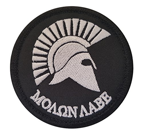 2AFTER1 Molon Labe Spartan Helmet Morale Tactical Army Isaf Embroidery Sew Iron on Patch
