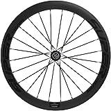 700c front wheel carbon - Superteam 50mm/23mm Carbon Bike Wheelset 700c Clincher Front & Rear Wheel (Rear Wheel)