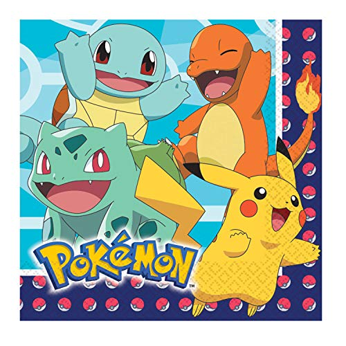 Amscan Party Pail 4 Count Pokemon Birthday Candle Set, Multicolor - AM-171844