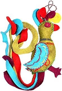 Silk Road Bazaar Parrot Felt Ornament, 1 EA