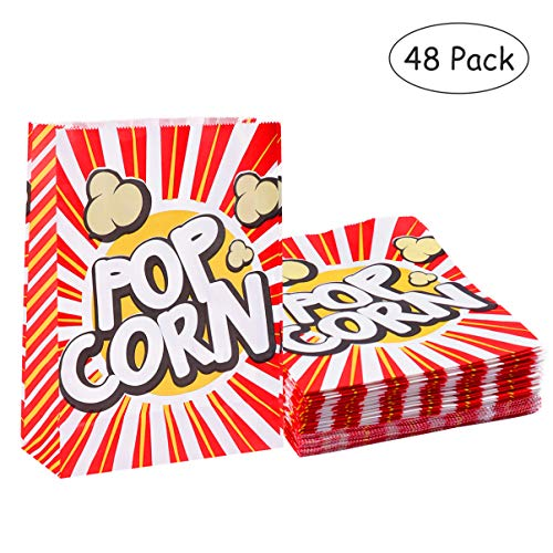 Buy Bargain Tomaibaby Paper Popcorn Bag Popcorn Cup Snack Bag Classic Cinema Style Box Suitable for ...