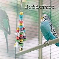自然な木製のオウムのおもちゃを噛むオウムの噛む鳥の噛むカラフルなオウムのおもちゃが鳥の注意を引き付けますもっと
