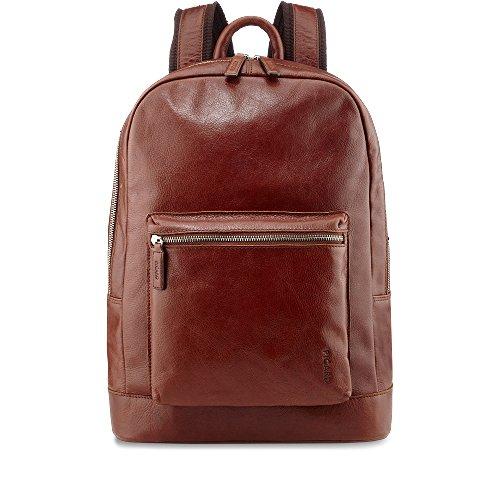 Picard Buddy 5891 Cognac, Leder Rucksack Daypack mit Tabletfach für 7-10 Zoll iPads, Galaxy etc. und viel Platz