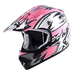 in budget affordable WOW Youth Children Motocross BMX MXATV Bike Helmet Star Matte Pink