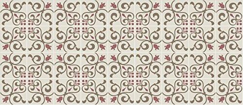 Laroom Alfombra Vinílica de Cocina Diseño Toscana, Vinilo Antiliscante, Beige, 65x150 cm