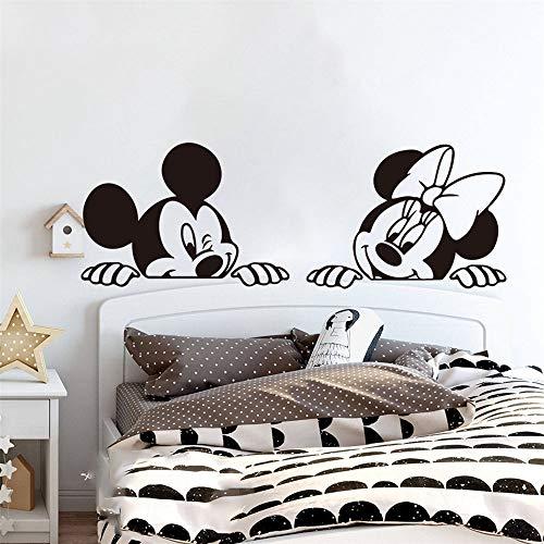 Minnie Mouse Wandtattoo Cartoon Micky Minnie Mouse Kinderzimmer Anime Maus Schlafzimmer Sofa Wohnzimmer Wohnkultur
