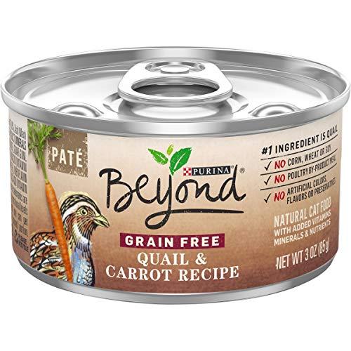 Purina Beyond Grain Free, Natural Pate Wet Cat Food, Grain Free Quail & Carrot Recipe - (12) 3 oz. Cans