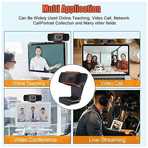Webcam PC 1080P Full HD con Micrófono Estéreo, Portátil Cámara Web USB 2.0 Reducción de Ruido,Web CAM de Enfoque Fijo… 3