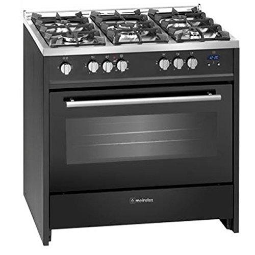 Cocina - Meireles G910BL 5 fuegos, Encimera y horno de Gas butano, Quemador Wok