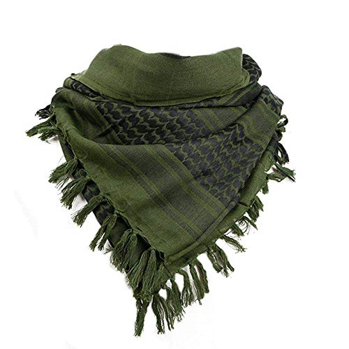 Sri Belha Fashions Men's and Women's Cotton, Multi-Purpose Desert Stylish and Breathable Arafat Scarf for Warm and Cold (Green and...