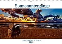 Sonnenuntergaenge, an der Nordseekueste vor Cuxhaven (Wandkalender 2022 DIN A3 quer): Momente die Unvergesslich bleiben (Monatskalender, 14 Seiten )