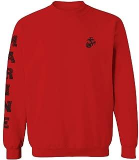 Black Seal Marine Corp Logo USMC United States of America American Men's Crewneck Sweatshirt