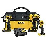 DEWALT 20V MAX Cordless Drill Combo Kit, 3-Tool (DCK340C2)