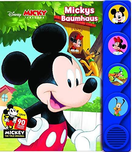 Disney - Micky und Freunde - Mickys Baumhaus - Silhouetten-Soundbuch mit 4 lustigen Geräuschen für Kinder ab 3 Jahren