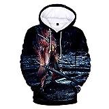 YJXDBABY-Devil May Cry-3D Printed Jacket Men's Hip-Hop Hoodie, longleeved Casual Sports Top, Kangaroo Pocket Drawstring Hoodie-XXXL