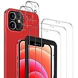 MSOVA per iPhone 12 Mini Vetro Temperato+Pellicola Fotocamera,[3 Pezzi] Durezza 9H Senza Bolle AntiGraffio per iPhone 12 5.4 Mini Pellicola Protettiva.Transparent