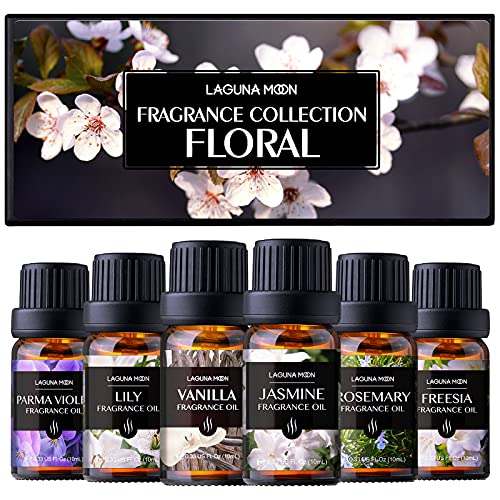 Lagunamoon Floral of Fragrance Oil Gift Set for DIY, Candle...