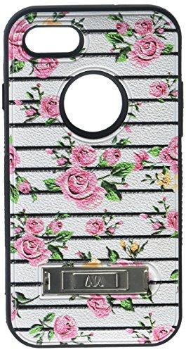 Price comparison product image MyBat VERGE Hybrid Case for iPhone 7 - Pink Fresh Roses / Black