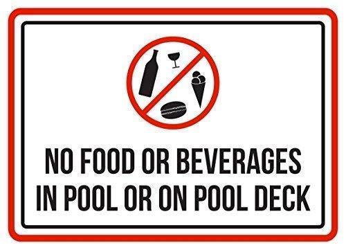 Warnschilder Aufschrift Food Beverages