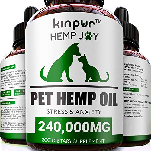 Kinpur Natural Hemp Oil for Dogs & Cats -...