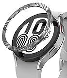 Ringke Bezel Styling Compatibile con Cover Samsung Galaxy Watch 4 44mm, Ghiera Anti Graffio Acciaio Inossidabile Adesiva Accessorio - Silver (44-40)