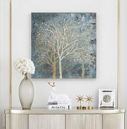 5D Diamond Pintura de Diamantes Hueso de árbol DIY 5D Diamante Pintura Kits decoración del hogar Sin Marco (40 x 50 Cm)