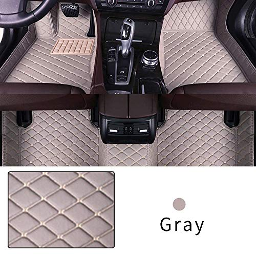 Car Floor Mat Custom Made For Most models Full Coverage Interior Protection Waterproof Non-Slip Leather Mat Gray