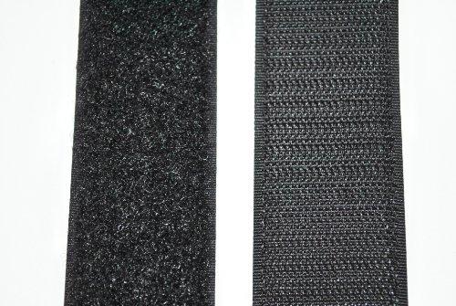 SAN Klettband schwarz 50 mm breit je 1 Meter Klettverschluss Hakenband und Flauschband