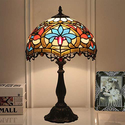 AWCVB Tiffany Lámpara De Mesa De 12 Pulgadas Crista Creativa Creativa Personalizada Drantamiento Dormitorio Lámpara De Noche Lámpara De Mesa Lámpara De Mesa