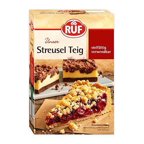 RUF Streuselteig Grund-Mischung für Obst-Kuchen, Streusel-Kuchen mit Pudding oder Crumble, 8er Pack (8 x 450 g)