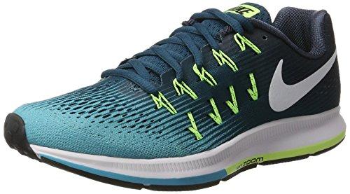 Nike Air Zoom Pegasus 33, Zapatillas de Running Hombre, Azul (Legion Azule/White/Chlorine Azule), 38.5 EU
