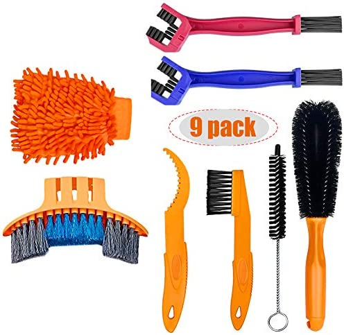 Bike Cleaner Tool Kit Bicycle Chain Cleaning Brush Tool Set Suitable for Chain Crank Sprcket product image
