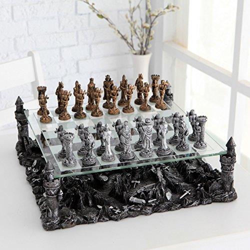 Renaissance Knight Chess Recreational Classic Strategy Game Set