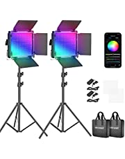Neewer RGB Led Video Light with APP Control, 360° Full Color, 50W 660PRO Video Lighting Kit CRI 97+ for Gaming, Streaming, Zoom,YouTube, Webex, Broadcasting, Web Conference, Photography