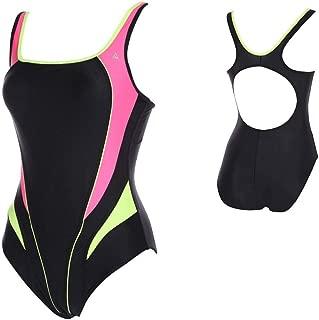 Lima Ladies Swimsuit, Black/Bright Pink, 38