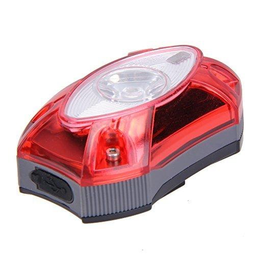 domybest 3 W USB Batería delantera/trasera impermeable LED faro Delantero Luz de freno de bicicleta para ciclismo para bicicleta de montaña