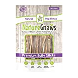 Nature Gnaws Extra Thin Bully Sticks 5-6' (50 Count) - 100% Natural...