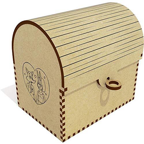 Azeeda 'Fox & Hare Couple' Treasure Chest / Jewellery Box (TC00045129)